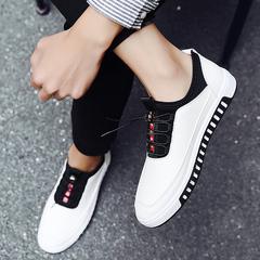 รองเท้าผู้ชาย ราคาถูก รองเท้าแฟชั่น รองเท้าผ้าใบ เกาหลี มี สีขาว สีดำ สีน้ำเงิน มี ไซร์ 39-44