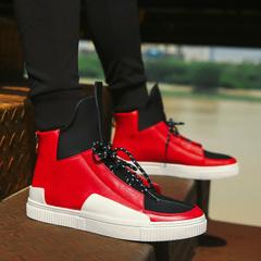รองเท้าผู้ชาย ราคาถูก รองเท้าแฟชั่น รองเท้าผ้าใบ เกาหลี มี สีขาว สีดำ สีแดง มี ไซร์ 39-44