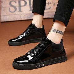 รองเท้าผู้ชาย ราคาถูก รองเท้าแฟชั่น รองเท้าผ้าใบ เกาหลี มี สีดำ มี ไซร์ 38-43