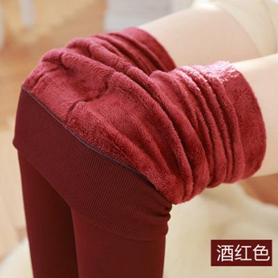 (พร้อมส่งสีไวท์แดง) กางเกงเลคกิ้งกันหนาว กางเกงเลคกิ้งขายาว กางเกงเลคกิ้งกระชับ