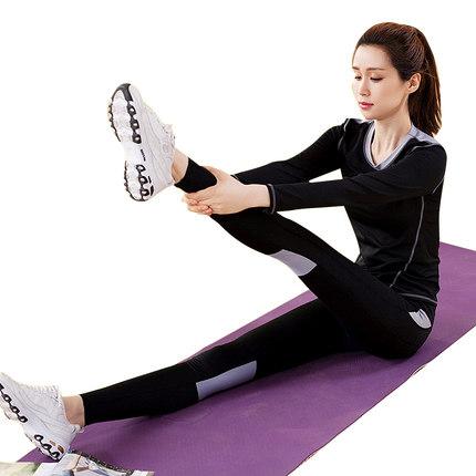 **พร้อมส่ง size M/L/XL สีดำเทา ชุดออกกำลังกาย/โยคะ/ฟิตเนส เสื้อแขนยาว+บรา+กางเกงขายาว