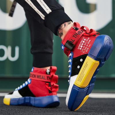 รองเท้าผู้ชาย ราคาถูก รองเท้าแฟชั่น รองเท้าผ้าใบ เกาหลี มี สีดำแดง สีดำฟ้า สีขาวเขียว มี ไซร์ 38-45