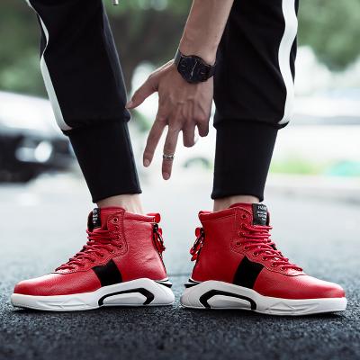 รองเท้าผู้ชาย ราคาถูก รองเท้าแฟชั่น รองเท้าผ้าใบ เกาหลี มี สีแดง สีดำ สีขาว มี ไซร์ 39-45