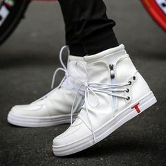 รองเท้าผู้ชาย ราคาถูก รองเท้าแฟชั่น รองเท้าผ้าใบ เกาหลี มี สีดำ สีขาว มี ไซร์ 39-44