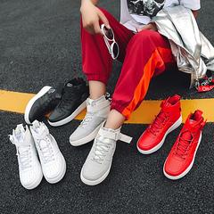 รองเท้าผู้ชาย ราคาถูก รองเท้าแฟชั่น รองเท้าผ้าใบ เกาหลี มี สีดำ สีขาว สีแดง สีเทา มี ไซร์ 36-45