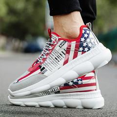 รองเท้าผู้ชาย ผู้หญิง ราคาถูก รองเท้าแฟชั่น รองเท้าผ้าใบ เท่ๆ มี สีเทา สีดำ สีแดง มี เบอร์ 39-44