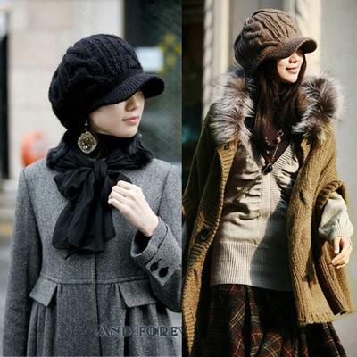 หมวกกันหนาวผู้หญิง หมวกไหมพรม หมวกกันหนาวแฟชั่น