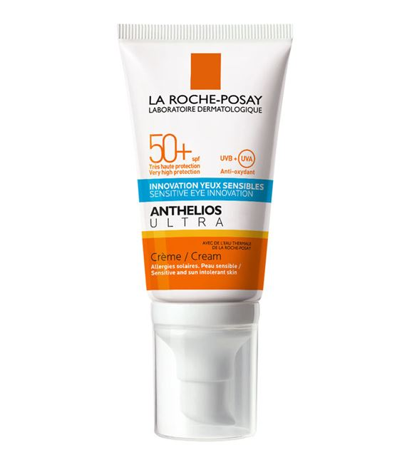 **พร้อมส่ง**La Roche-Posay Anthelios Ultra Sensitive Eyes Innovation Cream SPF 50+ 50ml. ครีมกันแดดสำหรับผิวหน้าสำหรับผิวธรรมดา-ผิวแห้งอ่อนโยนแม้ผิวบอบบางระคายเคืองง่ายหรือผิวไวต่อแดด สามารถทาได้แม้รอบดวงตา พร้อมลดปริมาณการใช้สารกรองแสงเคมี (Chemical filt