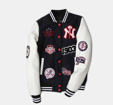 เสื้อแจ็คเก็ตเบสบอล เสื้อกันหนาว เบสบอล แฟชั่น NY MLB MAJOR LEAGUE BASEBALL (รับประกันของแท้100%)