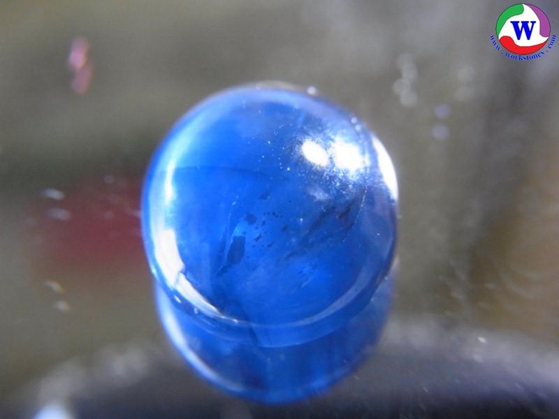 พลอยเมืองจันทบุรี ไพลินสีน้ำเงินเข้ม เผาเก่า 4.30 กะรัต