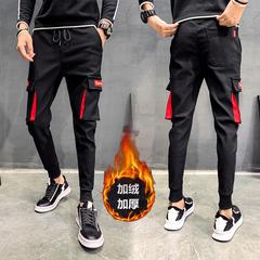 กางเกงผู้ชาย ราคาถูก กางเกงขายาว กางเกงลำลอง กางเกงฮาเร็มรุ่นเกาหลี Slim มี สีดำแดง สีดำแดงขาว สีดำแดงน้ำเงิน มี ไซร์ 28-36