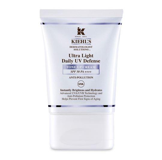 **พร้อมส่ง**Kiehl's Ultra Light Daily UV Defense Tone Up Cream Anti-Pollution SPF 50 PA++++ 30ml. ครีมกันแดดสูตรใหม่ เนื้อบางเบา ปรับโทนสีผิวให้ดูสว่างขึ้นทันทีและเสริมความชุ่มชื้นอย่างเต็มเปี่ยม พร้อมปกป้องผิวจากปัจจัยคุกคามจากสิ่งแวดล้อม กำหนดสูตรด
