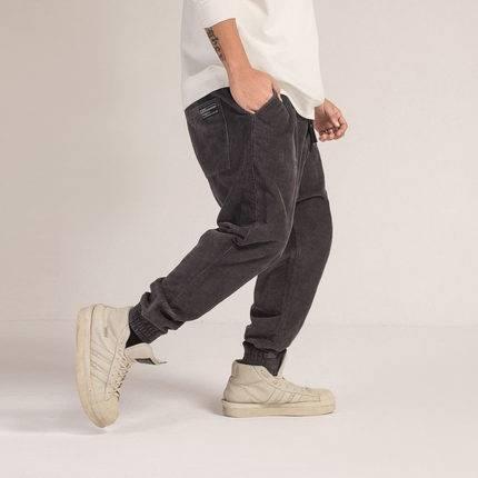 ขนาด:2XL 3XL 4XL 5XL 6XL สี:เทา กางเกงคนอ้วน กางเกงผู้ชาย ขนาดใหญ่ กางเกงยีนส์ ขายาว