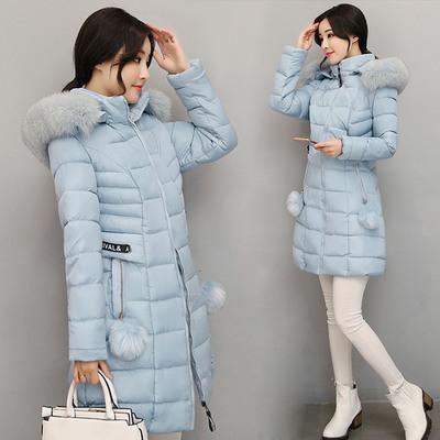 (พร้อมส่งสีฟ้า L) เสื้อโค๊ทกันหนาว เสื้อโค๊ทผู้หญิง เสื้อโค๊ทมีฮู้ด+ขนเฟอร์สวย