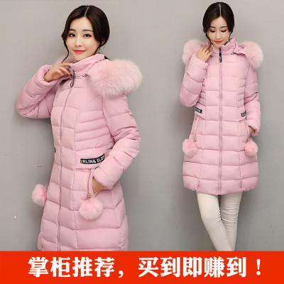 (พร้อมส่งสีชมพู L) เสื้อโค๊ทกันหนาว เสื้อโค๊ทผู้หญิง เสื้อโค๊ทมีฮู้ด+ขนเฟอร์สวย