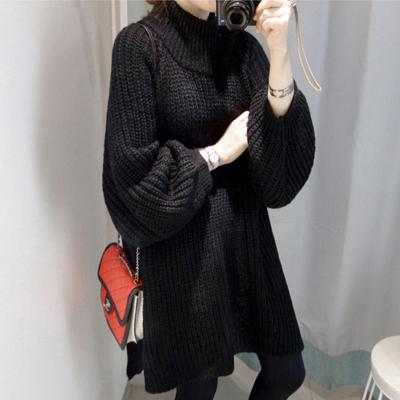 (พร้อมส่งสีดำ) เสื้อกันหนาวไหมพรมตัวยาว เสื้อคลุมกันหนาว เสื้อไหมพรมตัวยาว