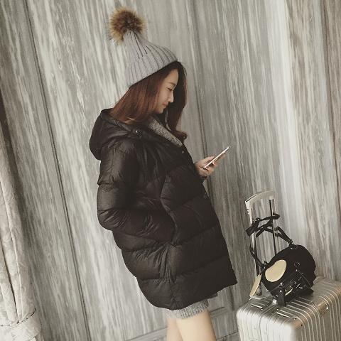 (พร้อมส่งสีดำ) เสื้อโค๊ทกันหนาว เสื้อแขนยาวผู้หญิง เสื้อโค๊ทผู้หญิง เสื้อโค๊ทมีฮู้ด