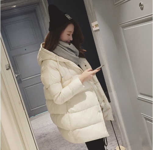 (พร้อมส่งสีขาว) เสื้อโค๊ทกันหนาว เสื้อแขนยาวผู้หญิง เสื้อโค๊ทผู้หญิง เสื้อโค๊ทมีฮู้ด