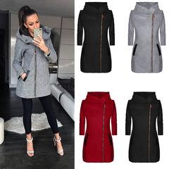 เสื้อผ้าผู้หญิง ราคาถูก เสื้อกันหนาว เสื้อคลุม มี สีเทา สีแดง สีดำ มี ไซร์ S M L XL 2XL 3XL 4XL 5XL