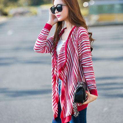 (พร้อมส่งสีแดง) เสื้อคลุมกันหนาว เสื้อคลุมผู้หญิง เสื้อไหมพรมกันหนาว เสื้อคลุมแฟชั่นเกาหลี