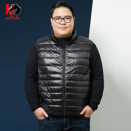 ขนาด:XL 2XL 3XL 4XL 5XL 6XL 7XL สี:น้ำเงิน/ดำ/แดง เสื้อคนอ้วน เสื้อผ้าผู้ชาย ขนาดใหญ่ เสื้อกั๊ก