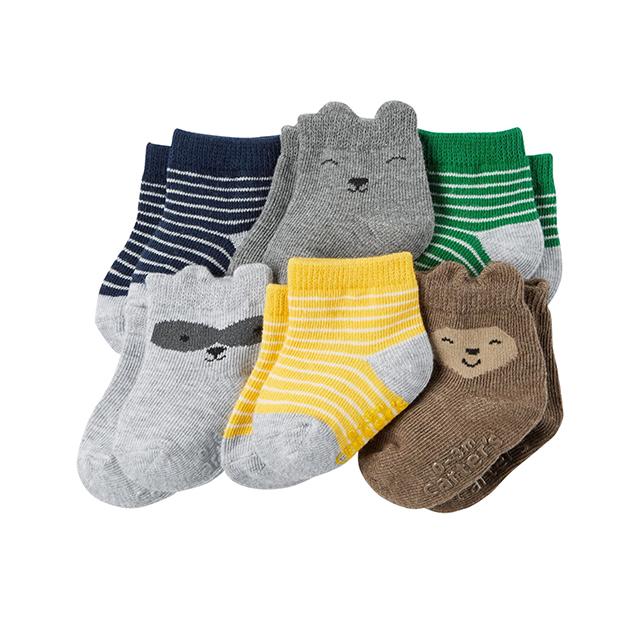 ถุงเท้าเด็ก Carter's 6-Pack Socks, Animal