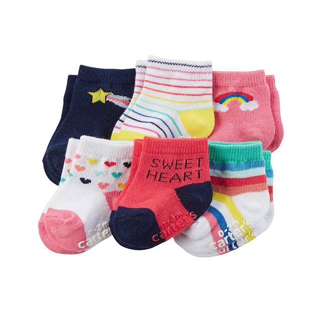 ถุงเท้าเด็ก Carter's 6-Pack Socks, SweetHeart