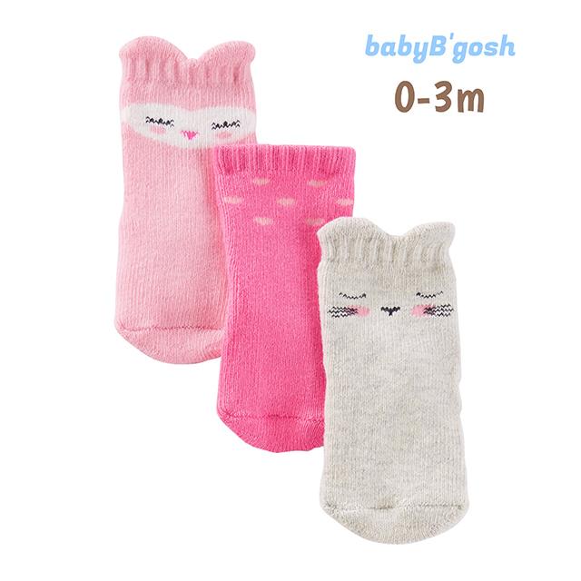 ถุงเท้าเด็ก babyB'gosh 3-Pack Socks, Animal Girl