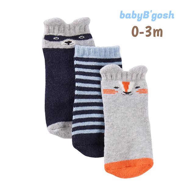 ถุงเท้าเด็ก babyB'gosh 3-Pack Socks, Animal Boy