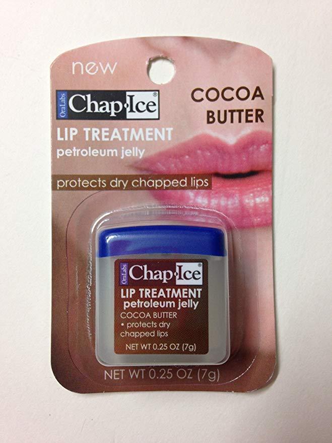 Chap Ice Assorted Petroleum Jelly Lip Treatment Cocaa Butter7g.ลิปบาล์มช่วยบำรุงริมฝีปากให้นุ่มชุ่มชื้นคะ