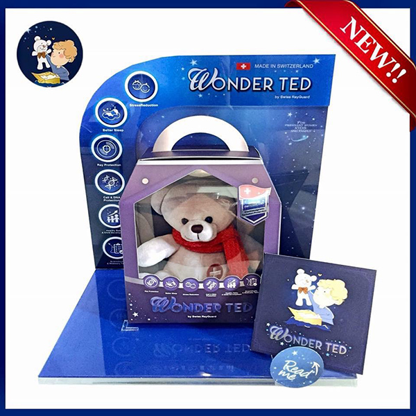 WONDER TED Gen. 2 ตุ๊กตาหมีป้องกันรังสีและคลื่นแม่เหล็กไฟฟ้า (สีเทา)
