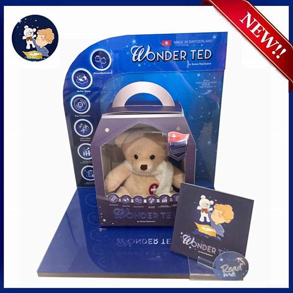 WONDER TED Gen. 2 ตุ๊กตาหมีป้องกันรังสีและคลื่นแม่เหล็กไฟฟ้า (สีครีม)