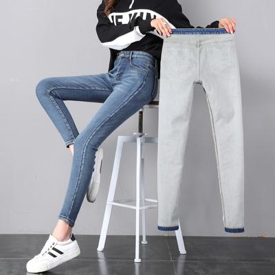 กางเกงยีนส์กันหนาว กางเกงยีนส์ผู้หญิง กางเกงยีนส์ขายาว กางเกงใส่ติดลบ