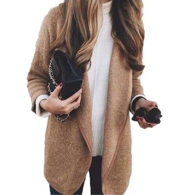 เสื้อผ้าผู้หญิง ราคาถูก เสื้อคลุม เสื้อกันหนาว มี สีกากี สีเทา มี ฟรีไซร์