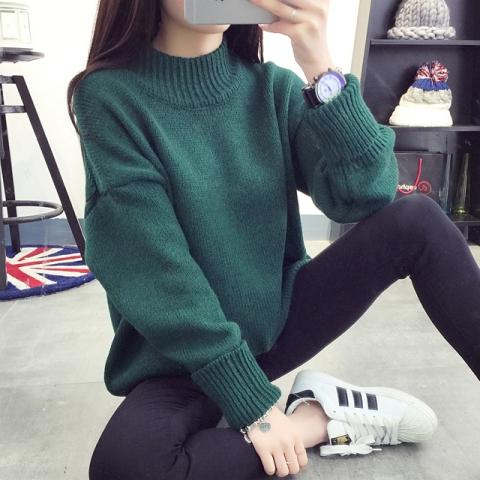 (พร้อมส่งสีเขียว) เสื้อไหมพรมกันหนาว เสื้อแขนยาวผู้หญิง เสื้อแขนยาวไหมพรม เสื้อกันหนาวแฟชั่น