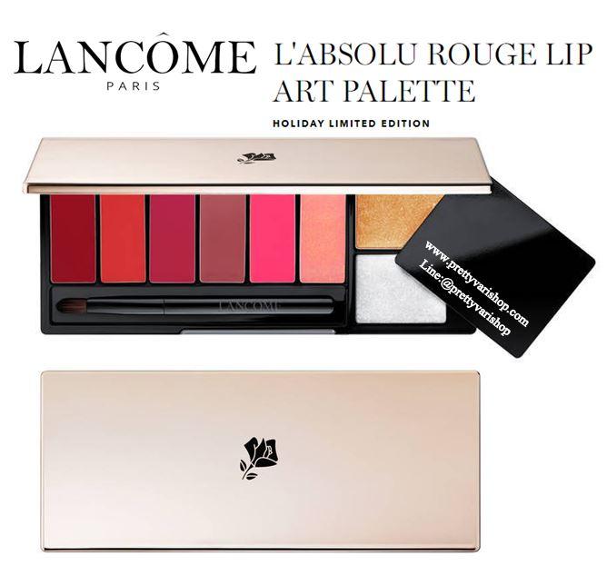 **พร้อมส่ง**Lancome L'Absolu Rouge Lip Art Palette Holiday 2018 พาเลทลิปสติกรุ่นใหม่จากลังโคม 6 สีสวย มี 3 เนื้อสัมผัส เนื้อเชียร์ เนื้อครีม และเนื้อแมทท์ พร้อมท๊อปโค้ท 2 สี สามารถนำแต่ละสีมาผสมให้เกิดสีใหม่สีเฉพาะตามสไตล์ของคุณเอง มอบสีสันสดชัด ติดท