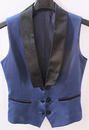 รอบอก 33 เสื้อผ้าผู้หญิง เสื้อกั๊กแฟชั่น เสื้อกั๊ก สีน้ำเงิน มีซับใน