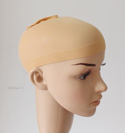 หมวกเก็บผมสีเนื้อก่อนใส่วิก สีเนื้อเพิ่มความเนียนสวยเป็นธรรมชาติ  แบบฟรีไซต์ เก็บผมก่อนใส่วิก ใส่สบายมาก