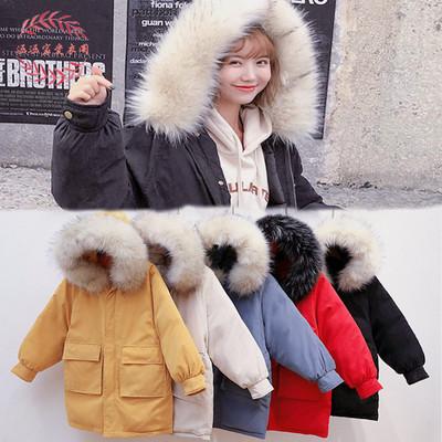 เสื้อโค๊ทกันหนาวมีฮู้ด มีขนเฟอร์ เสื้อโค๊ทผู้หญิง เสื้อกันหนาวตัวยาว