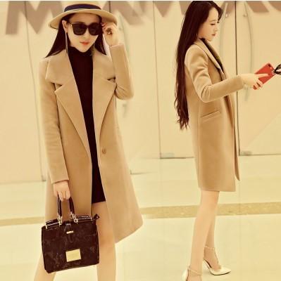 (พร้อมส่งสีน้ำตาลอ่อน) เสื้อโค๊ทกันหนาวผู้หญิง เสื้อคลุมตัวยาว เสื้อโค๊ทตัวยาว เสื้อโค๊ทผ้าวูล