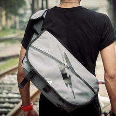 กระเป๋าผู้ชาย ราคาถูก กระเป๋าสะพายข้าง กระเป๋าถือ มี สีเทา-เล็ก สีเทา-ใหญ่