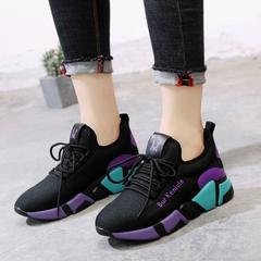 รองเท้าผู้หญิง ราคาถูก รองเท้าผ้าใบ รองเท้าแฟชั่น มี สีดำม่วง สีดำแดง มี ไซร์ 35-40