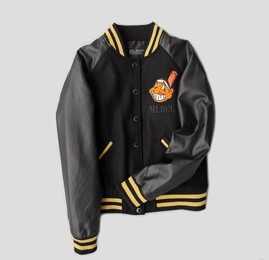 เสื้อแจ็คเก็ตเบสบอล เสื้อกันหนาว แขนหนัง เบสบอล แฟชั่น NY MLB MAJOR LEAGUE BASEBALL (รับประกันของแท้100%)