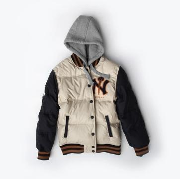 เสื้อแจ็คเก็ตเบสบอล หมวกฮู้ด เสื้อกันหนาว ขนห่าน เบสบอล แฟชั่น NY MLB MAJOR LEAGUE BASEBALL GOOSE (รับประกันของแท้100%)