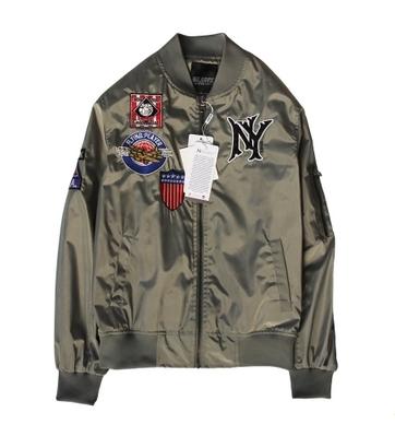 เสื้อแจ็คเก็ต นักบินยูนิฟอร์ม เสื้อกันหนาว ผ้าร่มซาติน เบสบอล แฟชั่น NY MLB MAJOR LEAGUE BASEBALL (รับประกันของแท้100%)