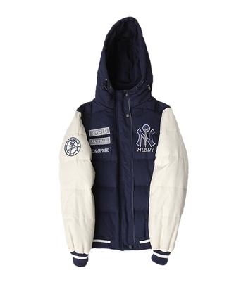 เสื้อแจ็คเก็ตเบสบอล หมวกฮู้ด เสื้อกันหนาว ขนห่าน เบสบอล แฟชั่น NY MLB MAJOR LEAGUE BASEBALL GENUINE GOOSE SHORT DOWN JACKET 2018  (รับประกันของแท้100%)