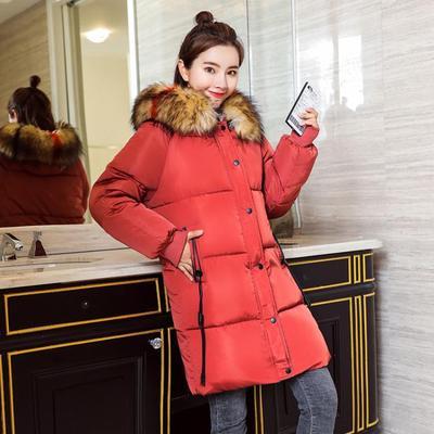 (พร้อมส่งสีแดง) เสื้อโค๊ทกันหนาวผู้หญิง เสื้อโค๊ทตัวยาว เสื้อโค๊ทมีฮู้ด เสื้อแขนยาวมีฮู้ด