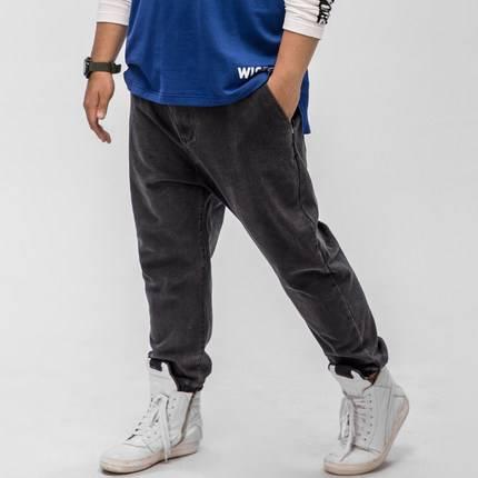 ขนาด:36 38 40 42 44 46 48 สี:ดำ/น้ำเงิน กางเกงคนอ้วน กางเกงผู้ชาย ขนาดใหญ่ กางเกงยีนส์ ขายาว