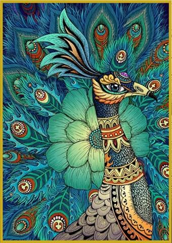 Lover peacock (พิมพ์ลาย)