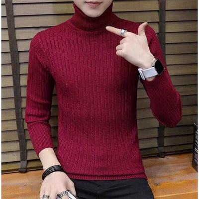 (พร้อมส่งสีไวท์แดง) เสื้อคอเต่าผู้ชาย เสื้อไหมพรมคอสูง เสื้อไหมพรมคอเต่า เสื้อลองจอนกันหนาว